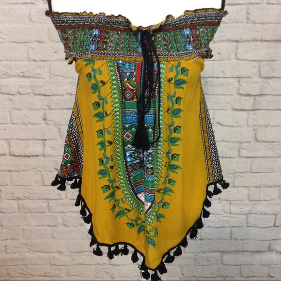 Midnight Sky Tops - Midnight Sky Assymetrical Top Bright Colors Size L